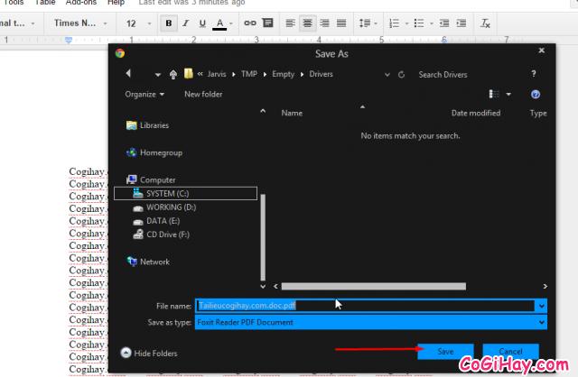 chuyển đổi file word sang file pdf