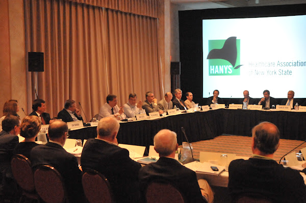 HANYS President Daniel Sisto addresses the HANYS Board of Trustees.