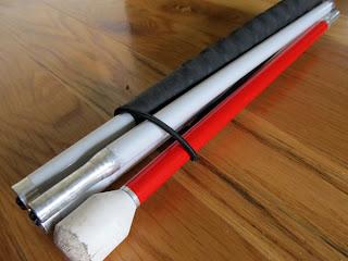 folded white cane
