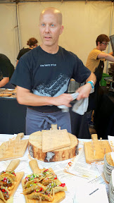 Widmer Brothers Brewing Sandwich Invitational presented by Dave's Killer Bread, Feast 2014. Scott Dolich of The Bent Brick (Portland, OR) had my vote for the best sandwich of the nite with his BBQ Goat Frybread