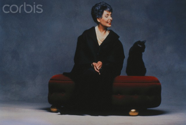 Lena Horne and a cat