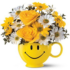 Send Flowers with the Teleflora Be Happy Bouquet