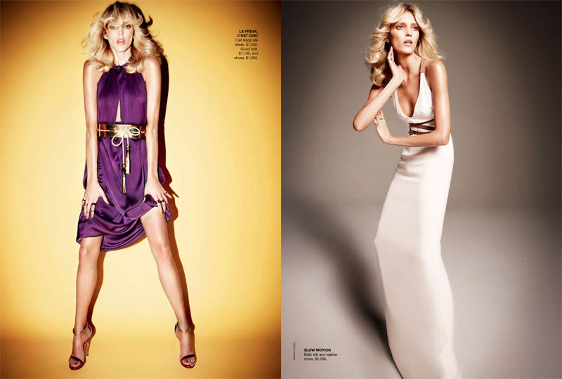 Anja Rubik For Vogue Australia Hair Romance