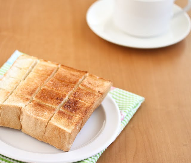 plain brick toast sliced into small pieces