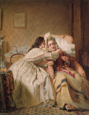 George Elgar Hicks - Comfort of Old Age Sketch for Woman's Mission III