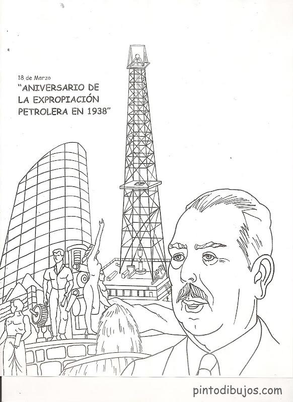 Dibujos de la expropiación petrolera para colorear