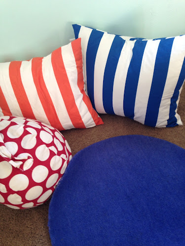 Striped envelope pillow covers tutorial