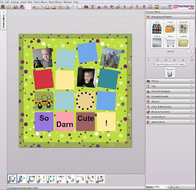 Personalizing MyMemories Templates