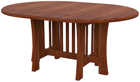 Craftsman Round Confrence Table in Cascadia Cherry