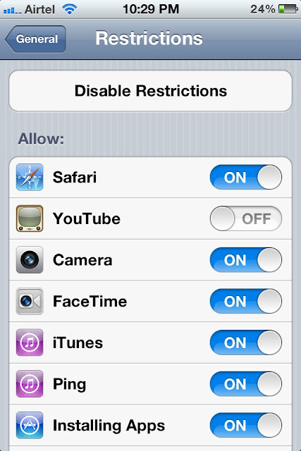 enable restriction www.iosideas.tk