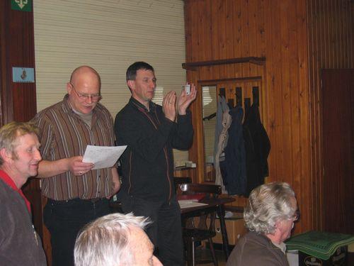 De jury (Danny en Leo) is klaar voor de uitreiking.