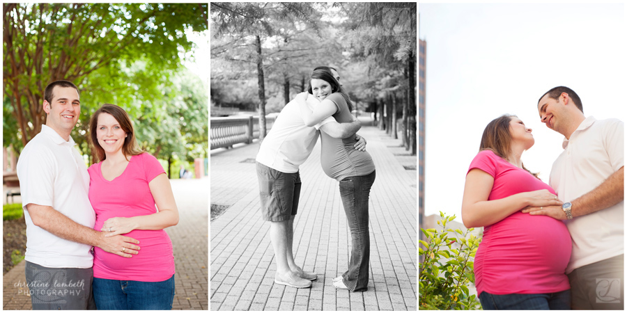 Maternity photos - happy couple