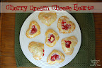 Cherry Cream Cheese Heart Pastry