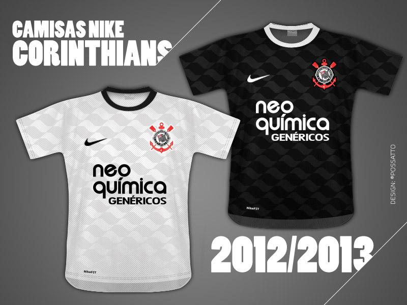 Provável modelo do uniforme do Corinthians 2012. Notem os detalhes em alusão a Av. Paulista. Design do meu amigo Rodrigo Possato.