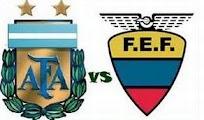 Argentina Ecuador online Eliminatorias 2 Junio