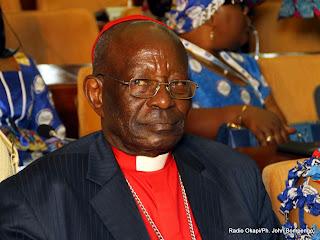Mgr Marini Bodho, président national de l'Eglise du christ au Congo (ECC), le 3 mars à Kinshasa. Radio Okapi/Ph. John Bompengo.