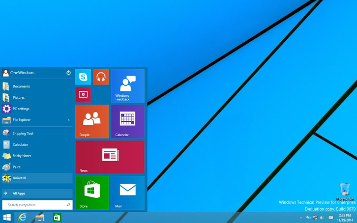 Windows 10 Tech Preview build 9879, A Clean Installation with All-Portable-Desktop-Applications