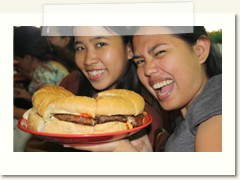 me and ariel with the big bang giant burger