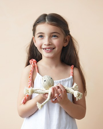 This braided octopus is simple enough that kids can help.