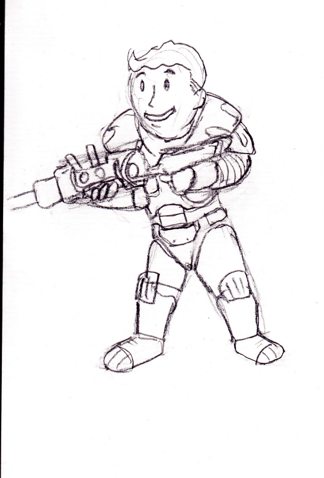 Fallout Vault Boy Icon Sketch Coloring Page