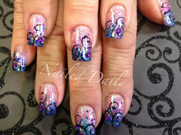 Sparkle Fade and simple Filligree