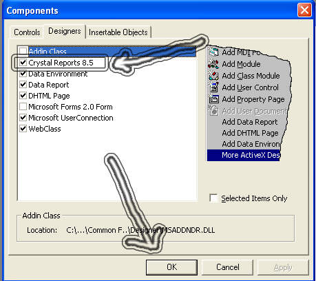 How to Connect Crystal Reports 8 5 to VB6 via DSN Connection