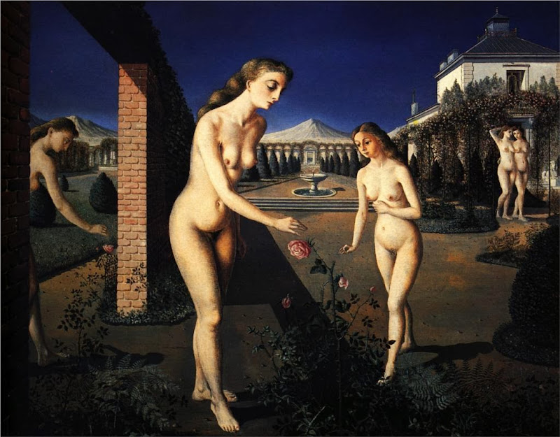 Paul Delvaux - The Night Garden, 1942