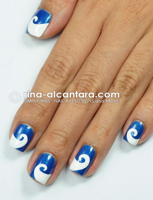 Wave-y Nail Art Design