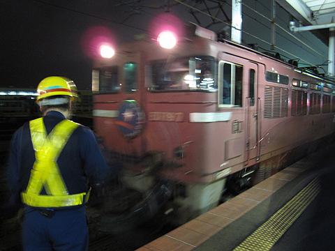 寝台特急「カシオペア」 函館駅 機関車交代