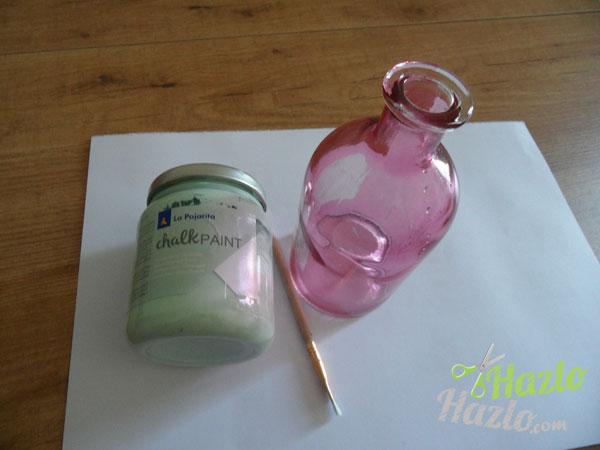 Pintar jarrón con chalk paint