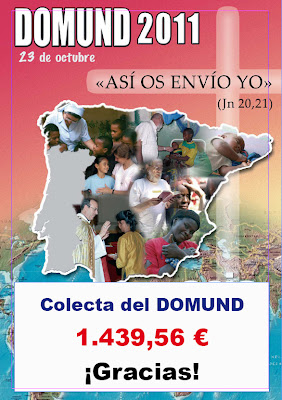 Colecta del Domund: 1.439,56 € para las Misiones