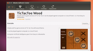 TicTacToe Wood in Ubuntu Software Center