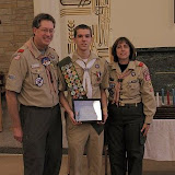 Carmel Boy Scouts Will Meyer and Phil Bruner Eagle Court of Honor