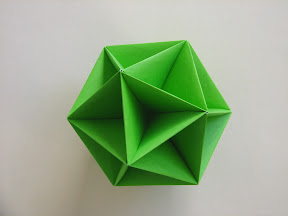 "Icosahedral Skeleton from Pg 54-55 of Miyuki Kawamura's ""Polyhedron Origami for Beginners"""