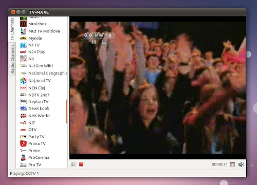 TV-MAXE su Ubuntu
