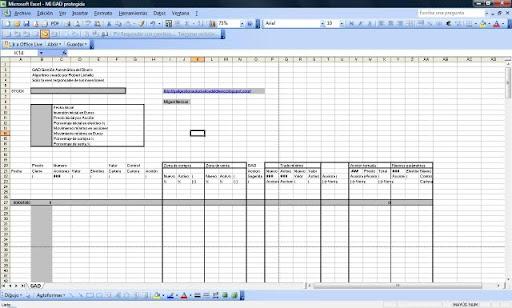 GAD Gestin del Dinero Hoja de Excel para seguir el GAD