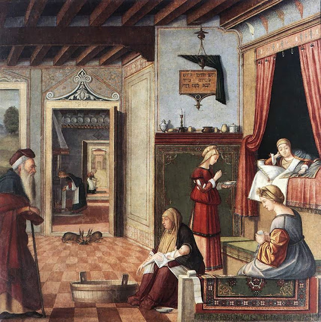 Vittore Carpaccio - Birth of Mary