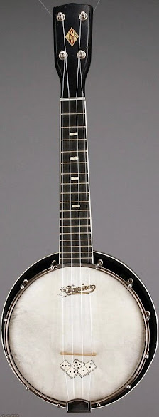 """JR Stewart """"Le Domino"""" Banjolele Banjo Ukulele"""