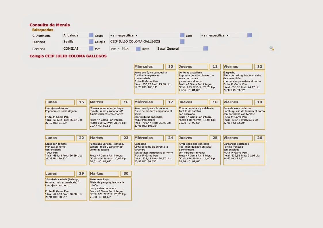 Descarga el menú de comedor para el mes de septiembre http://www.juliocoloma.es/documentos/1409_menu_sep_2014.pdf