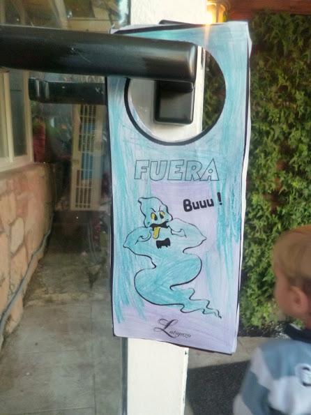 colgador de puerta de Halloween