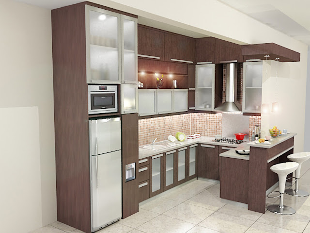 dapur bersih, dapur bersih modern, kitchen set modern, kitchen set bekasi, model kitchen set u, design kitchen set modern, kitchen pantry, meja pantry