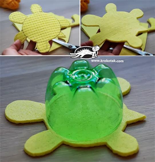 tartaruga lembrancinha de EVA