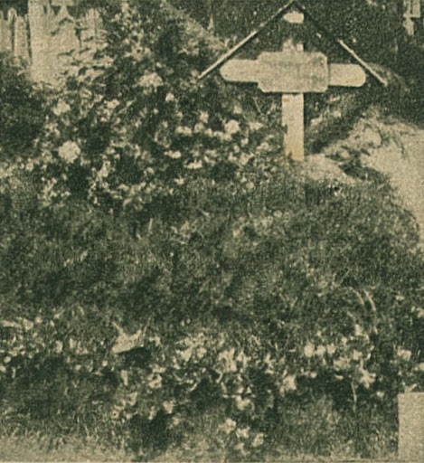 Munkácsy sírja a kerepesi-uti temetőben. (1900-ban készült felvétel