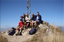 Peña del Castillo mendiaren gailurra 1.432 m.  -  2007ko irailaren 1ean