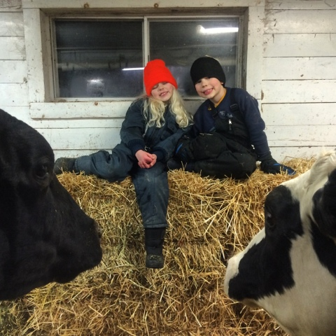 Dan and Monika in barn