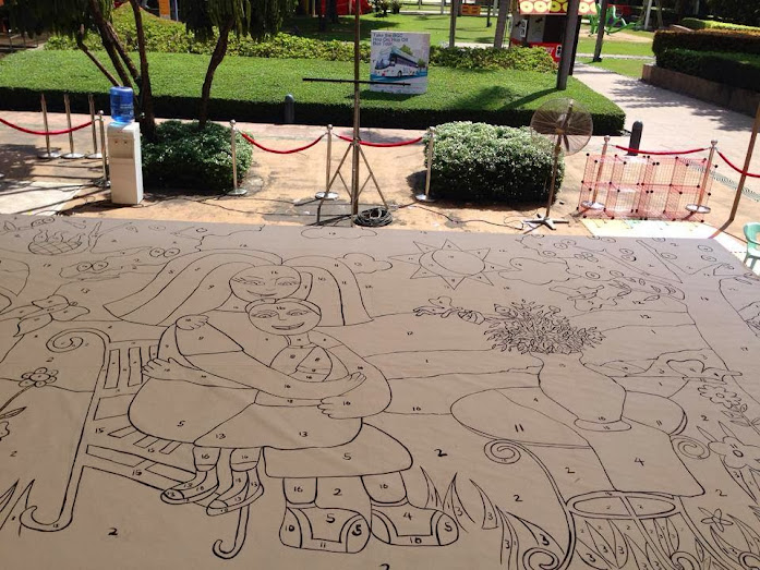 Raw photo of Promil Pre-school Hand-painted Mural