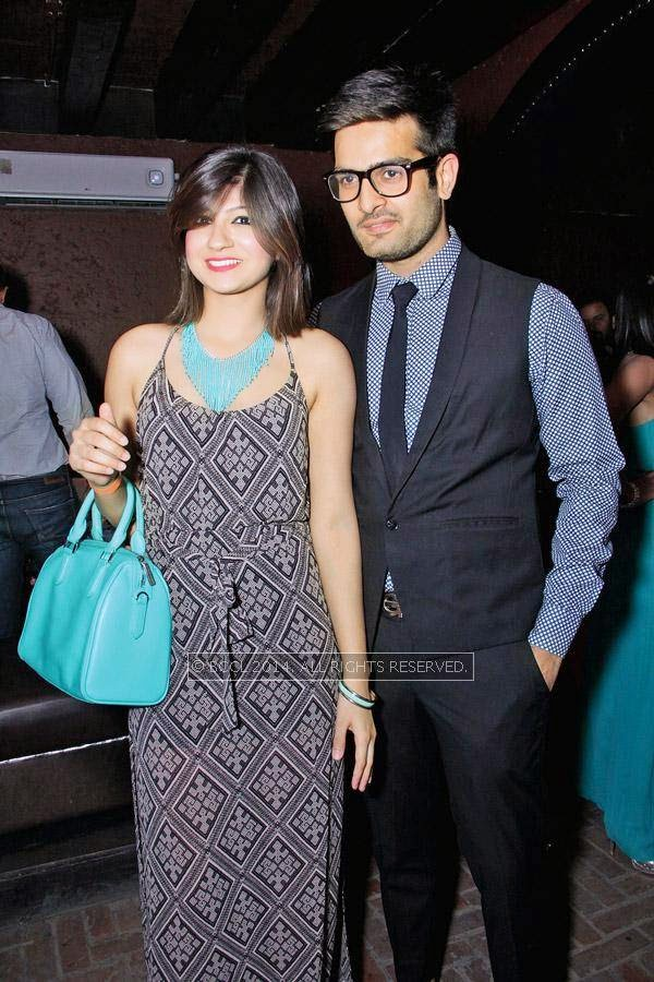 Drishti and Nishchay during Kriti Dhir's birthday party, held at The Mansion Club in Garden Of Five Senses, New Delhi.