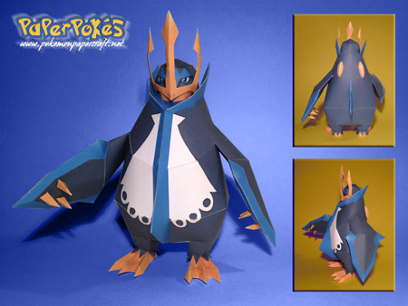 Pokemon Empoleon Papercraft