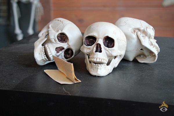 DIY Halloween Decoration - Skulls