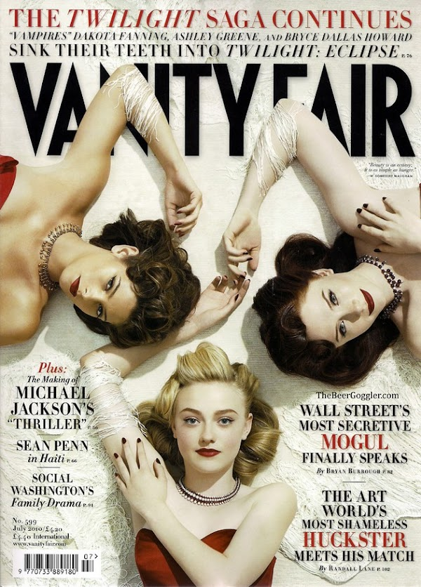 Ashley Greene, Bryce Dallas Howard & Dakota Fanning did Vanity Fair  #celebrities:celebrities